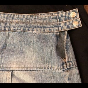 Newport News Skirts - Never worn, Denim pleated skirt